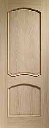 Oak Internal Louis Fire Door With Raised Mouldings