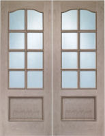 Glzd Oak Park Lane Door Pairs C/w Bev Glass (2 Pc)