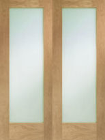 Glazed Oak Pattern 10 Pair C/w Clear Glass