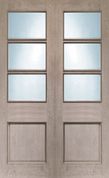 Oak Strand Clear Bevelled Glass Pair With Rm