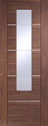 Walnut Prefinished Portici With Clear Glass